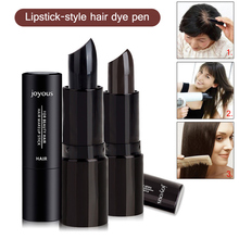Lipstick-Style Hair Color Pen Black Temporary Hair Dye Stick Mild Fast One-off Color Pen White Hair Cover DIY Styling Sticks