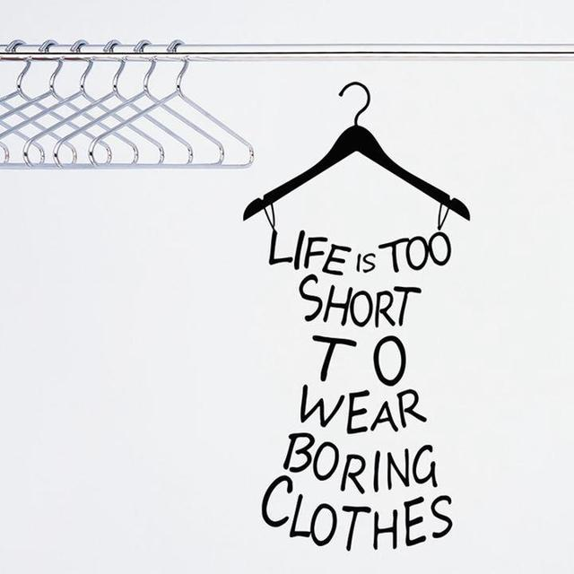 Diy Sexy Hanger Wall Stickers Life Is Too Shortquotes Vinyl Wall