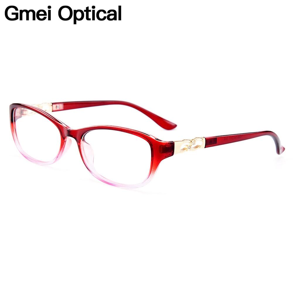 Gmei Optical Ultralight TR90 Women Optical Glasses Frames Plastic Optic Glasses Frame For Women Myopia Spectacles Oculos M1486