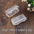 2 unids Titular Cubierta de la Caja de Plástico Duro para 18650 Batería Caja de Almacenamiento de la venta caliente