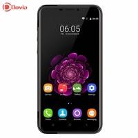 HELLE SCHWARZ OUKITEL U20 Plus 4G Smartphone 5,5 zoll MTK6737 Quad Core 2 GB RAM 16 GB ROM 5.0MP 0.3MP + 13.0MP Kameras Mobile telefon
