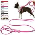 7 Cores Couro Novo Diamante de Luxo Que Bling Osso/Pata do animal de Estimação accessiores Pet Dog Harness & Chumbo