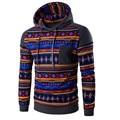 2017 Autumn Winter Men Bohemia Retro Print Long Sleeve Hoodie Casual Male Hooded Sweatshirt Patchwork Design Boys Tops New Oct31