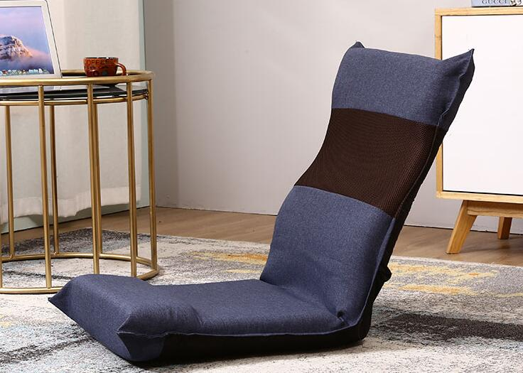 Japanese-Style Adjustable Foldable Recliner Six Files Floor Chair Lounge Chair Tatami Folding Chair Lazy Sofa for Home Office