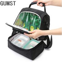 Lunch Bag Reusable Insulated Thermal Bag Women Men Multifunctional Cooler And Warm Keeping Lunch Box Leakproof Waterproof