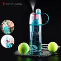 New Arrival Sports Spray Water Bottle Dual-use Bpa Free Plastic Bottles For Water Fashion Space Cups 0.6L/0.4L Transhome