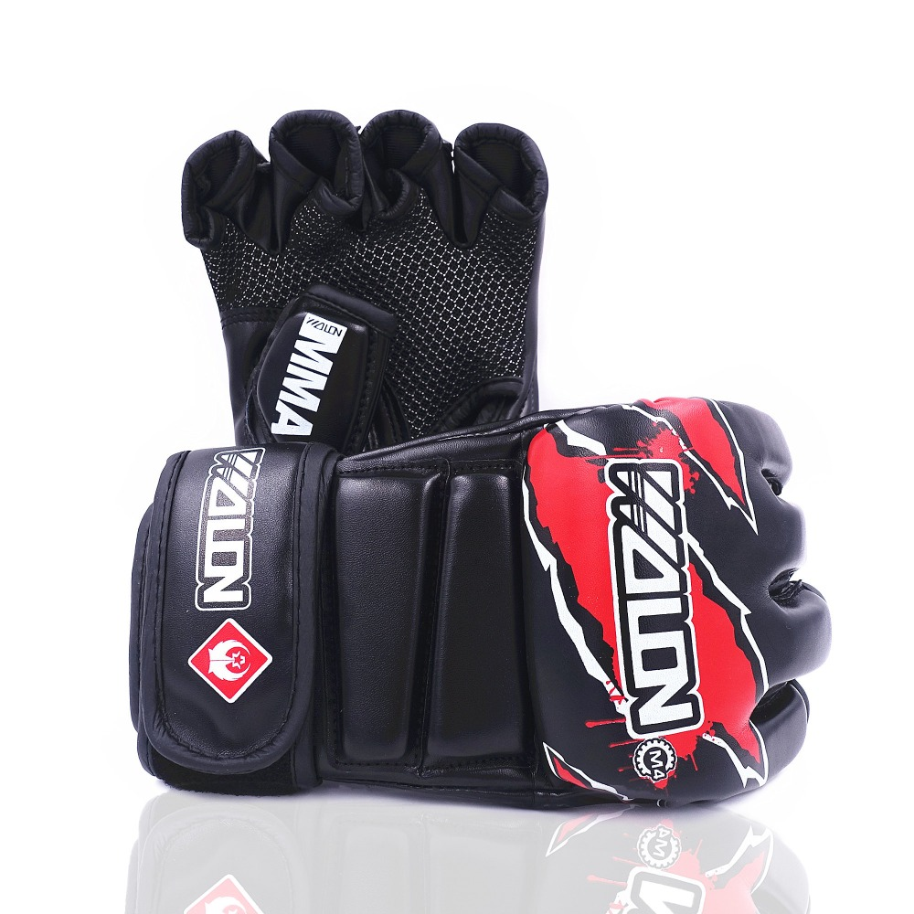 MMA Boxing Gloves Sanda Muay Thai Kick Boxing Mitts Breathable PU Mateial Sparring Grappling Fight Punch Mitts Boxing Equipment