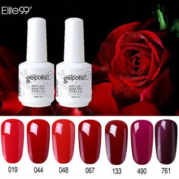 Elite99 15ML Reinem Gel Tränken Weg UV Gel LED Nail art 298 Reine Farben Gel Lacke Top Basis mantel Salon Maniküre Primer