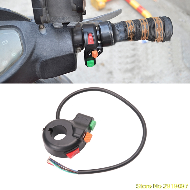 New Arrive 3 in 1 Motorcycle ATV 7/8 Handlebar Switch Horn Turn Signal On Off Button Drop Shipping Support