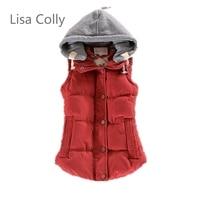2015 Good Quality Women Warm Cotton Hooded Vest Women Winter Coat Warm Coral Fleece Vest Fashion