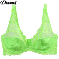 2015 Summer Style Breathable Push Up Bra Sexy Underwear Women Large Size Solid 3 4 Cup