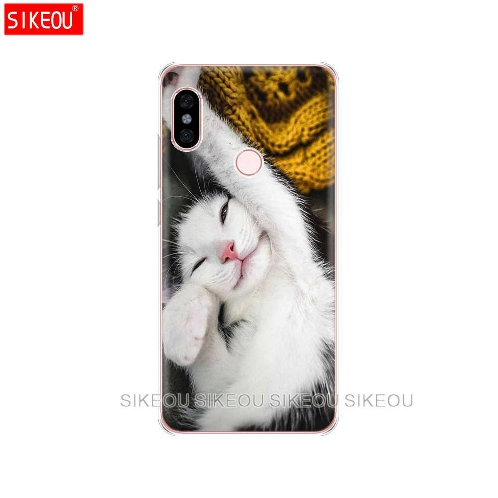 Housse en Silicone étui de téléphone pour xiaomi redmi 5 4 1 1 s 2 3 3 s pro PLUS redmi note 4 4X 4A 5A chat kitty Miaou