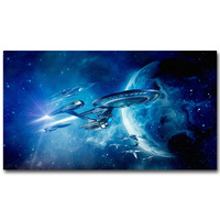 Star Trek 3 Beyond Art Silk Fabric Poster Print 13x24 Inch New Movie USS Enterprise Picture