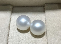 gorgeous round south sea 13 14mm white loose pearl half drilled