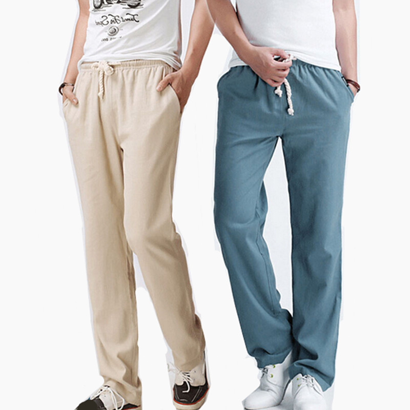 Mens Pleated Linen Pants Promotion-Shop for Promotional Mens ...