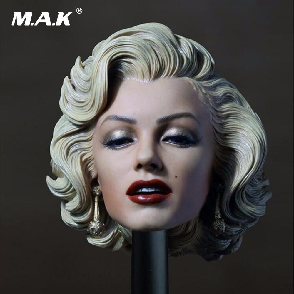 1:6 Scale Marilyn Monroe Female Head Sculpt For Female New 1/6 Female Action Figure Body new 1 6 scale female head sculpt km18 2