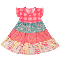 New Fashion Girls Clothes Baby Kids Clothing Floral Print Cotton Summer Dress Boutique Remake Cute Girl
