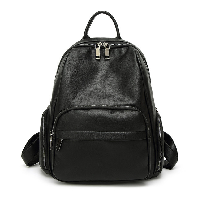 02331d85c3 2017 new design fashion women backpacks medium size high quality pu leather  backpack for women black girls school bags mochila