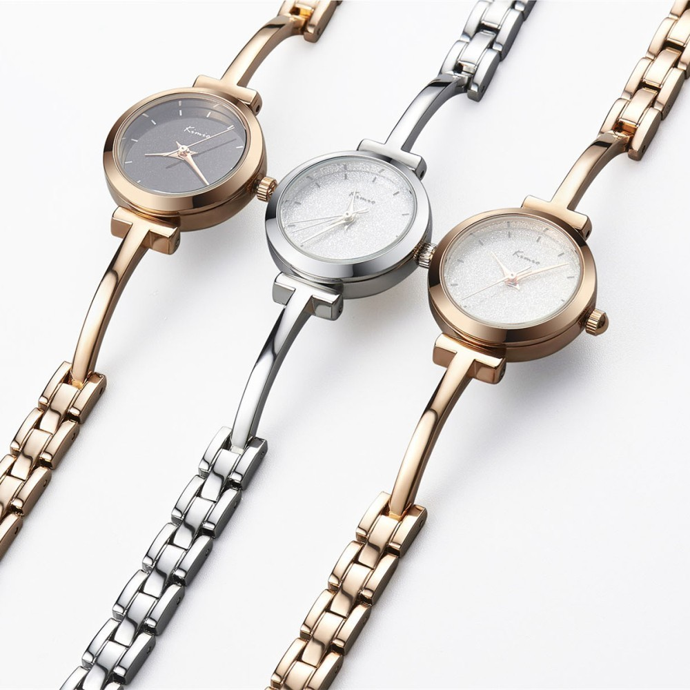 KIMIO Shine Dial Rose Gold Women Watches Armbåndsur Ladies Watches - Dameure - Foto 4