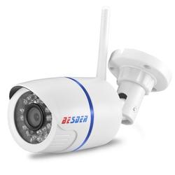 BESDER Yoosee Wi-fi ONVIF IP Camera 1080P 960P 720P Sem Fio Wired P2P Alarme CCTV Bala Câmera Ao Ar Livre com Slot Para Cartão SD Max 64G