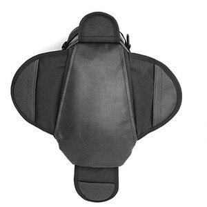Image 3 - New Waterproof Motor Tank Bag Black Oil Fuel Tank Bag Magnetic Motorbike Saddle Bag Single Shoulder Bag Motorcycle Backpack