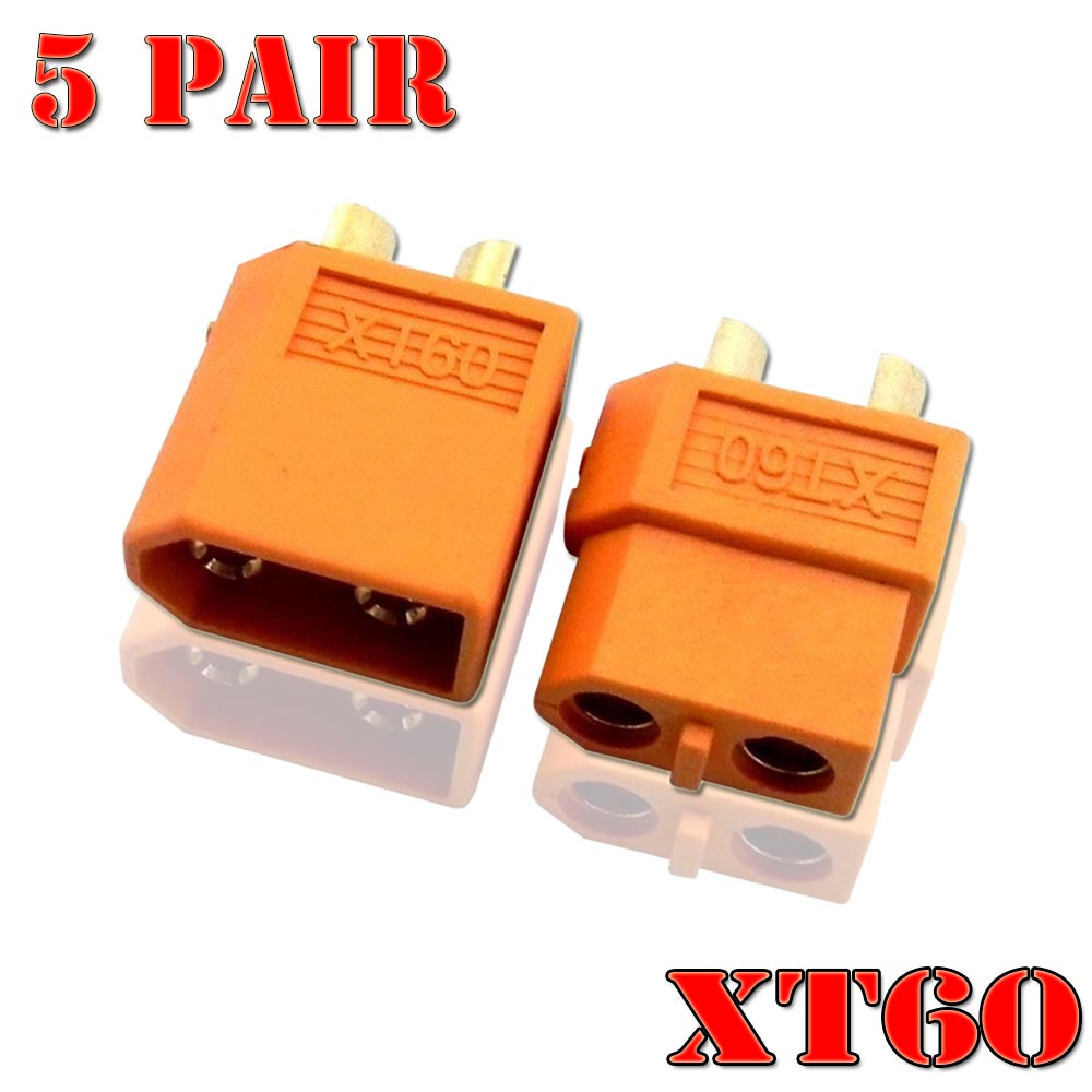 5 Pairs Of XT60 XT-60 XT 60 Plug Male Female Bullet Connectors Plugs For RC Lipo Battery Quadcopter Multicopter