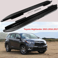 Car Running Boards Auto Side Step Bar Pedals For Toyota Highlander 2015 2016 High Quality Brand