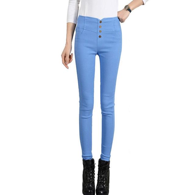 2017 de Alta Qualidade Verão Slim Calças Da Moda Inverno Estilo Plus Size S-XXXXL Leggings Estiramento Calças Lápis Mulheres Calças Justas