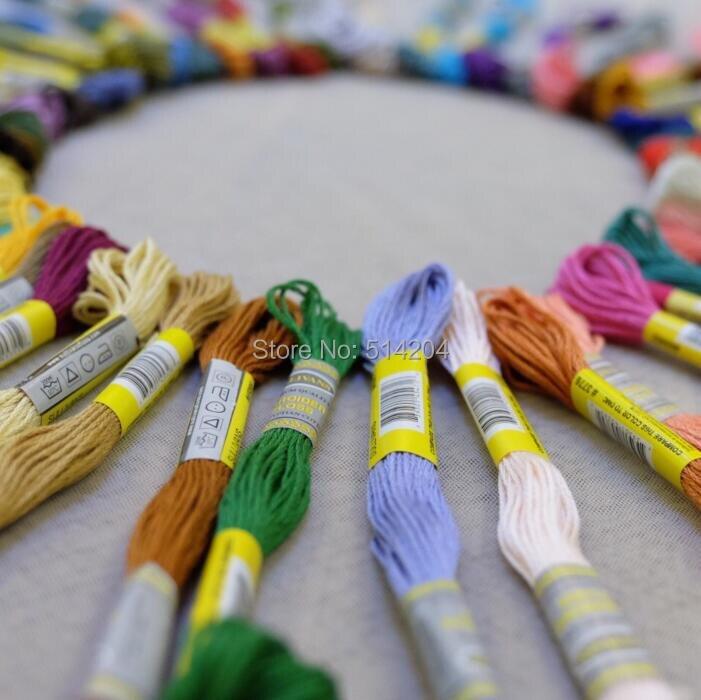 8m chaque-Solid Violet échevettes 6 ancre broderie point de croix Threads floss