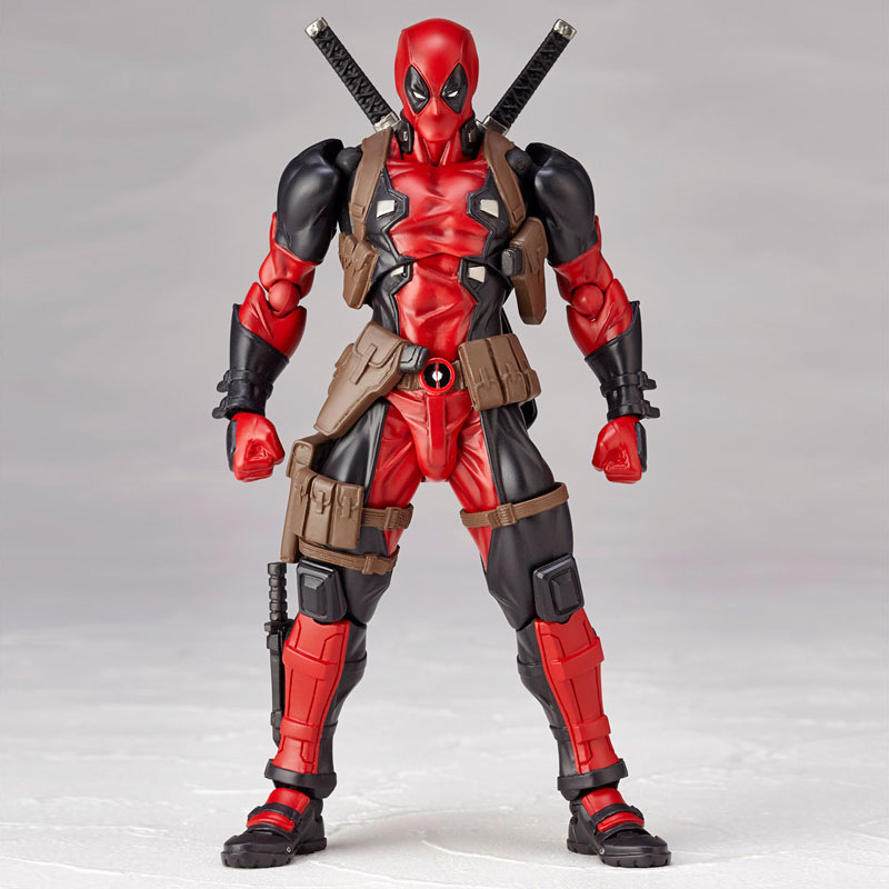 16cm Deadpool Jointed Move Action Figure Toy Change Head Plastic Model Deadpool Doll For Kids Boy Gift