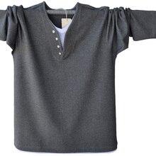 Spring Fall Fashion Mens Long Sleeve Henley T-Shirt