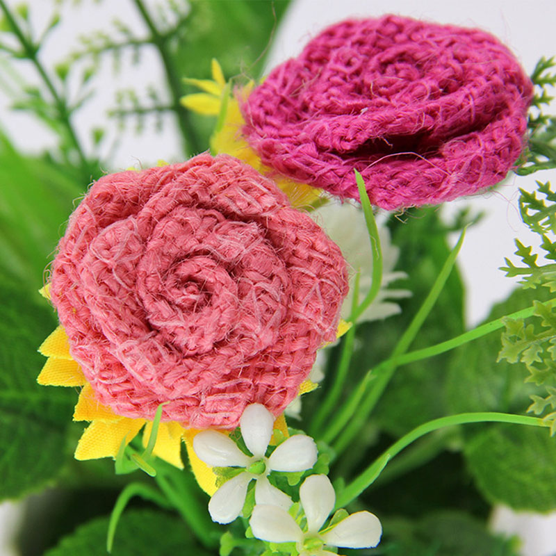 3.5 Cm Cloth Rose Bud Artificial Flowers Home Party Mariage Wedding Decoration Small Handmade Flowers Diy Wreath Craft