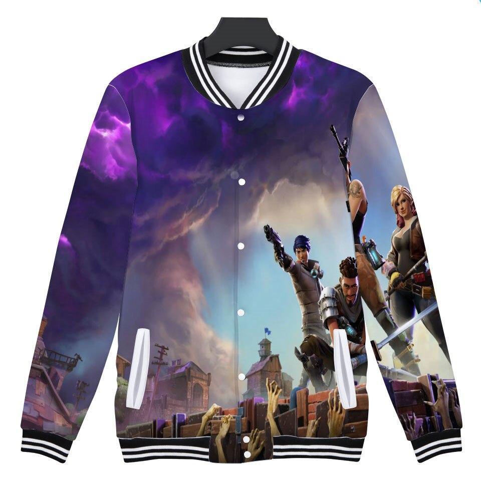3D Fortnite Baseball Jacket Men TV Plays Hoodies Sweatshirt Stand Collar Pop Funny FPS Games Hoodie Mens Tracksuit Bomber Jacket