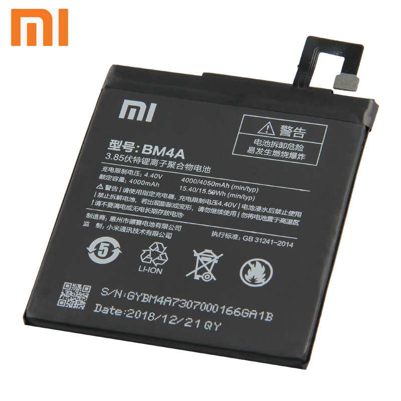 Xiao Mi Xiaomi BM4A Phone Battery For Xiao mi Redmi Pro Redrice pro 4050mAh BM4A Original Replacement Battery Tool in Mobile Phone Batteries from Cellphones Telecommunications