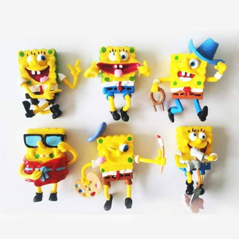 6 pçs/lote Modelo Spongebob Patrick Estrela Boneca Bob Esponja Brinquedos Cosplay Ação Pvc Figuras Anime Brinquedos Clássicos Para Presentes do Aniversário Dos Miúdos