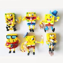 6pcs/lot Spongebob Patrick Star Model Doll Toys Sponge Bob Cosplay Pvc Action Figures Anime Classic Toys For Kids Birthday Gifts(China)