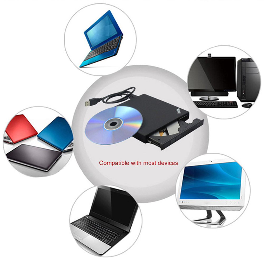 Image 2 - USB 2.0 External Mobile Optical Drive CD ROM DVD RW Player Burner for PC Laptop-in Optical Drives from Computer & Office