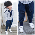Winter Clothes Baby Girl And Baby Boy Thicking With Velvet Jeans Kids Cotton Trousers Casual Soild Elastic Waist Newborn Pants