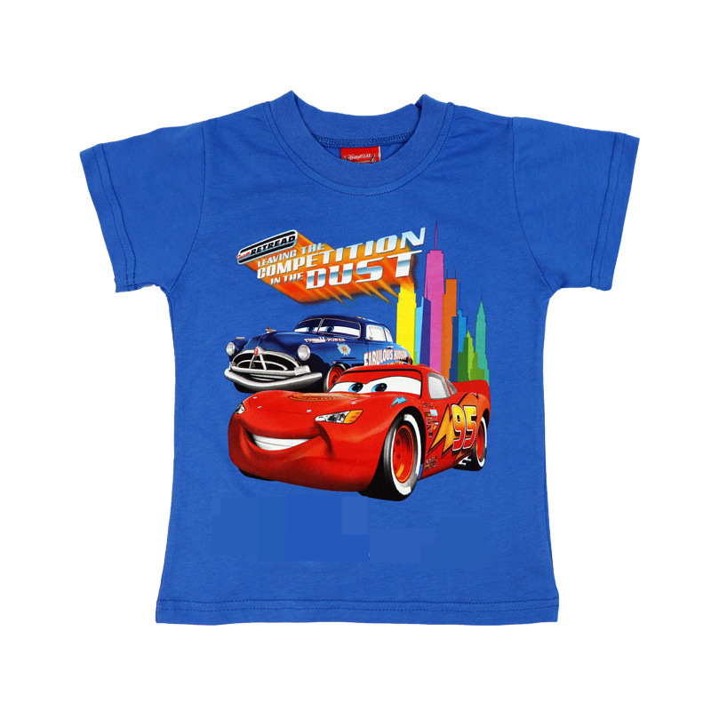 summer boys short sleeves T shirt Anime cars Cartoon movie McQueenes clothes Children for boys Kids T-shirts Mc Queenes Clothing