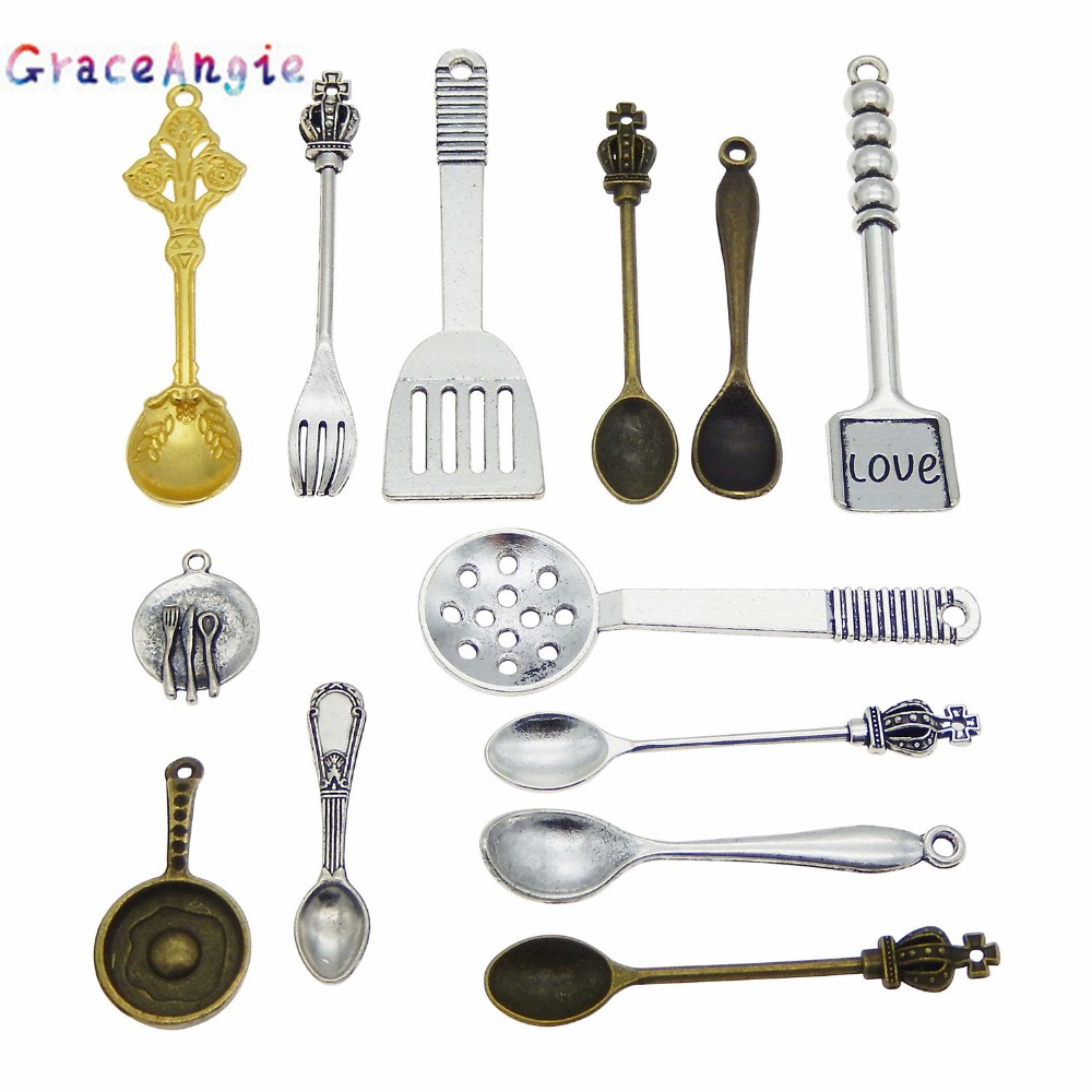 Cooking Ladle // Spoon  925 Sterling Silver Charm Kitchen Chef