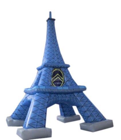 I004 Бесплатная доставка Креативный дизайн 2016 Горячей продажи гигантские надувные эйфелева башня реплики с вентилятором для рекламы