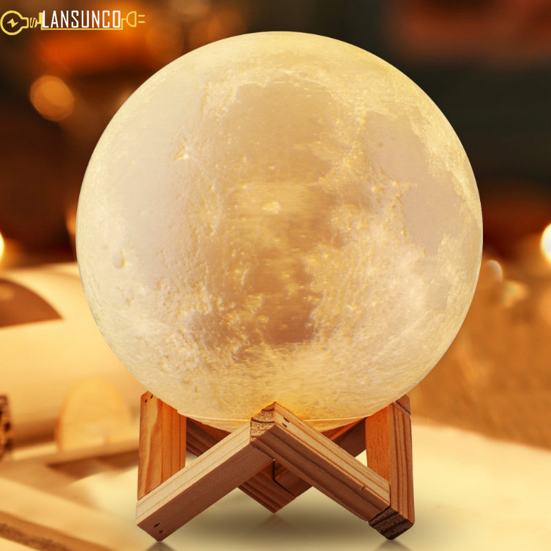 Desk Lamp 3d Print Moon Touch Dimmable 16 Colors Remote Table Lamp Led Night Light For Birthday Christmas Gift Lampara De Mesa Commodities Are Available Without Restriction
