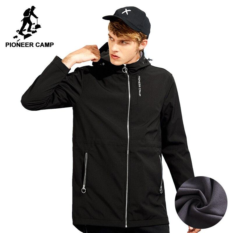 Пионерский лагерь длинные Водонепроницаемые утепленные флисовое пальто брендовая мужская одежда Повседневная зимняя куртка мужской наив...