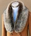 Outono e inverno de lã de pele de raposa gola de pele de guaxinim capa de pele falso falso colar cachecol cachecol pashmina