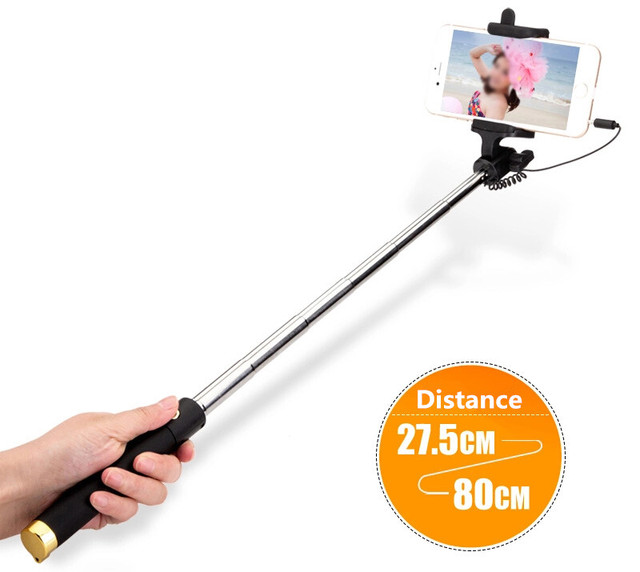 Universal Luxury Selfie Stick Monopod for iPhone Huawei Xaiomi Redmi P20 P10 Lite LG HTC ZTE 8 7 6 Android Groove Camera Para