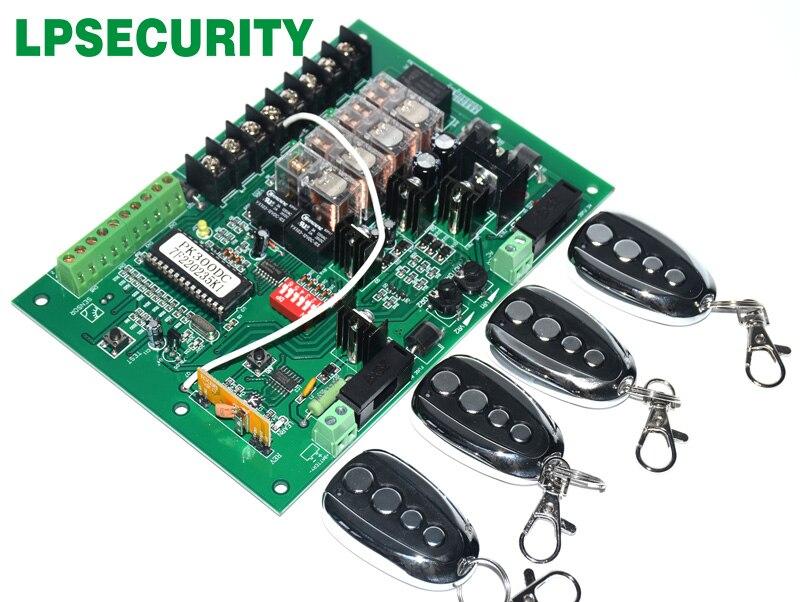 LPSECURITY ouvre la grille de commande unité carte mère PCB circuit de commande de moteur conseil carte pour solaire 24VDC swing moteur porte ouvre