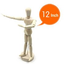 HOT sell!Freeshipping!! 12 inch  wooden human manikin toy,wooden human model,2 pieces/lot.The best gift for Christmas 12 inch 30cm wooden model comic
