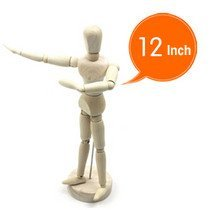 HOT sell!Freeshipping!! 12 inch  wooden human manikin toy,wooden human model,2 pieces/lot.The best gift for Christmas