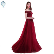 Ameision 2019 New arrival elegant party dress evening dresses  lace gown beading appliques lace-up prom