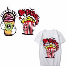Parches on T-Shirts High Quality Washable DIY Stickers Heat Transfer Vinyl Iron Food Patches Accessory Clothing